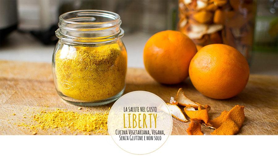 Polvere di buccia di arancia