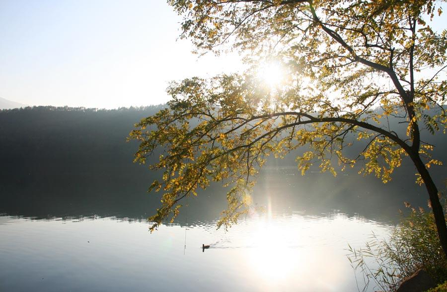 Lago di Levico: colori dell'autunno