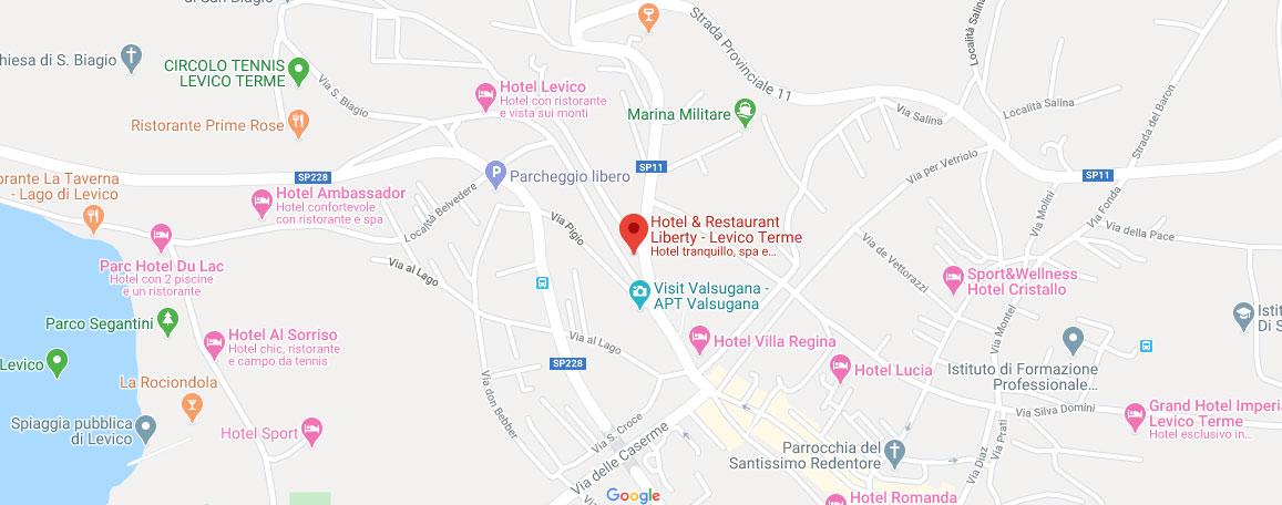 Liberty Hotel Levico Terme - dove siamo